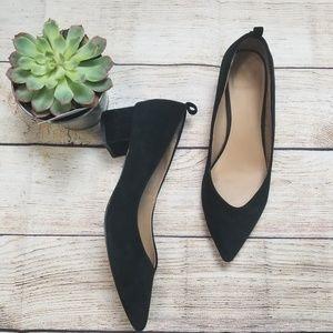 Anthropologie black pointed heels